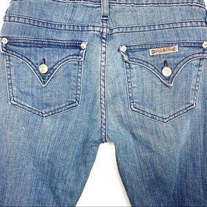 Hudson Ferris Flare Leg Jeans with Custom Bleach